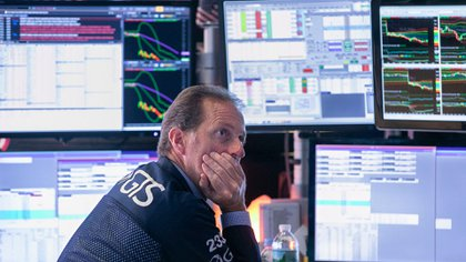 Un corredor en Wall Street (Foto: AP)