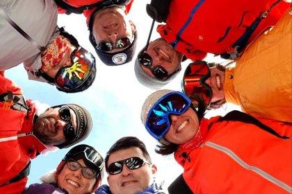 En la Antártida también se divierten. Foto: Gentileza Myrian Gómez.