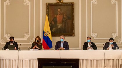 Iván Duque se refirió este viernes a la posibilidad de decretar la conmoción interior en Colombia