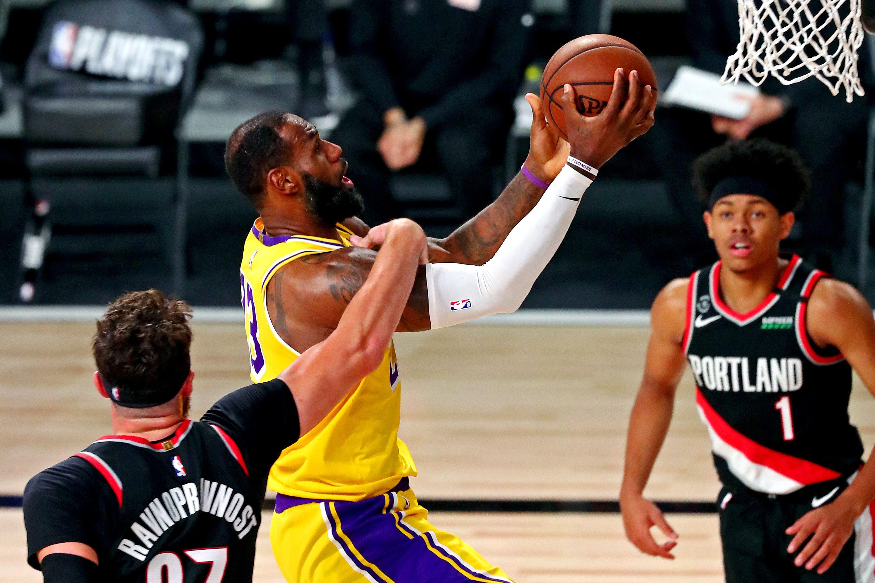 Los Lakers accedieron a las semifinales de la Conferencia Oeste -USA TODAY Sports