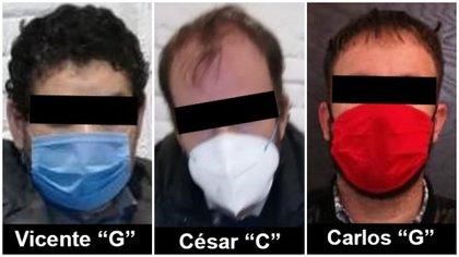 Los tres detenidos, incluido César Caro, se mantendrán en prisión preventiva (Foto: FGR/ Especial)