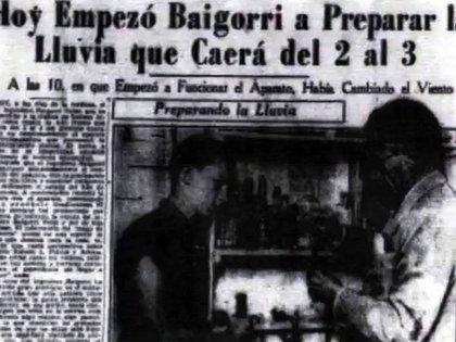 Juan Baigorri Velar hizo que la gente le pidiera que no llueva en la noche de Navidad