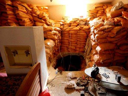 Las tropas iraquíes encontraron el túnel en el fondo de una vivienda de Bashiqa