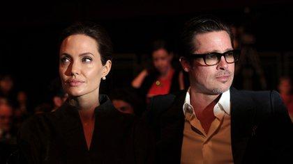 Angelina Jolie no quería compartir la custodia legal de sus hijos con su ex, Brad Pitt (AFP)