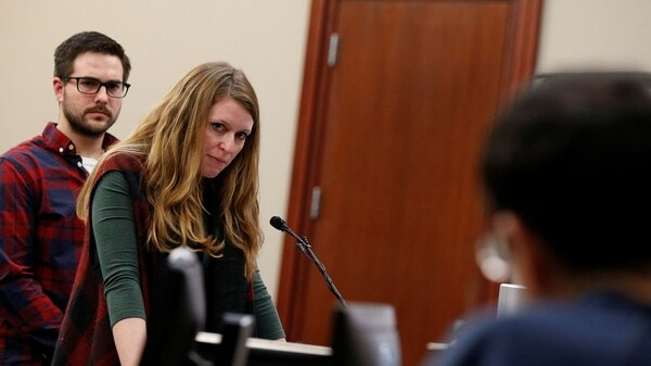 Amanda Cormier, otra de las vícitmas, cara a cara con Larry Nassar (Reuters)