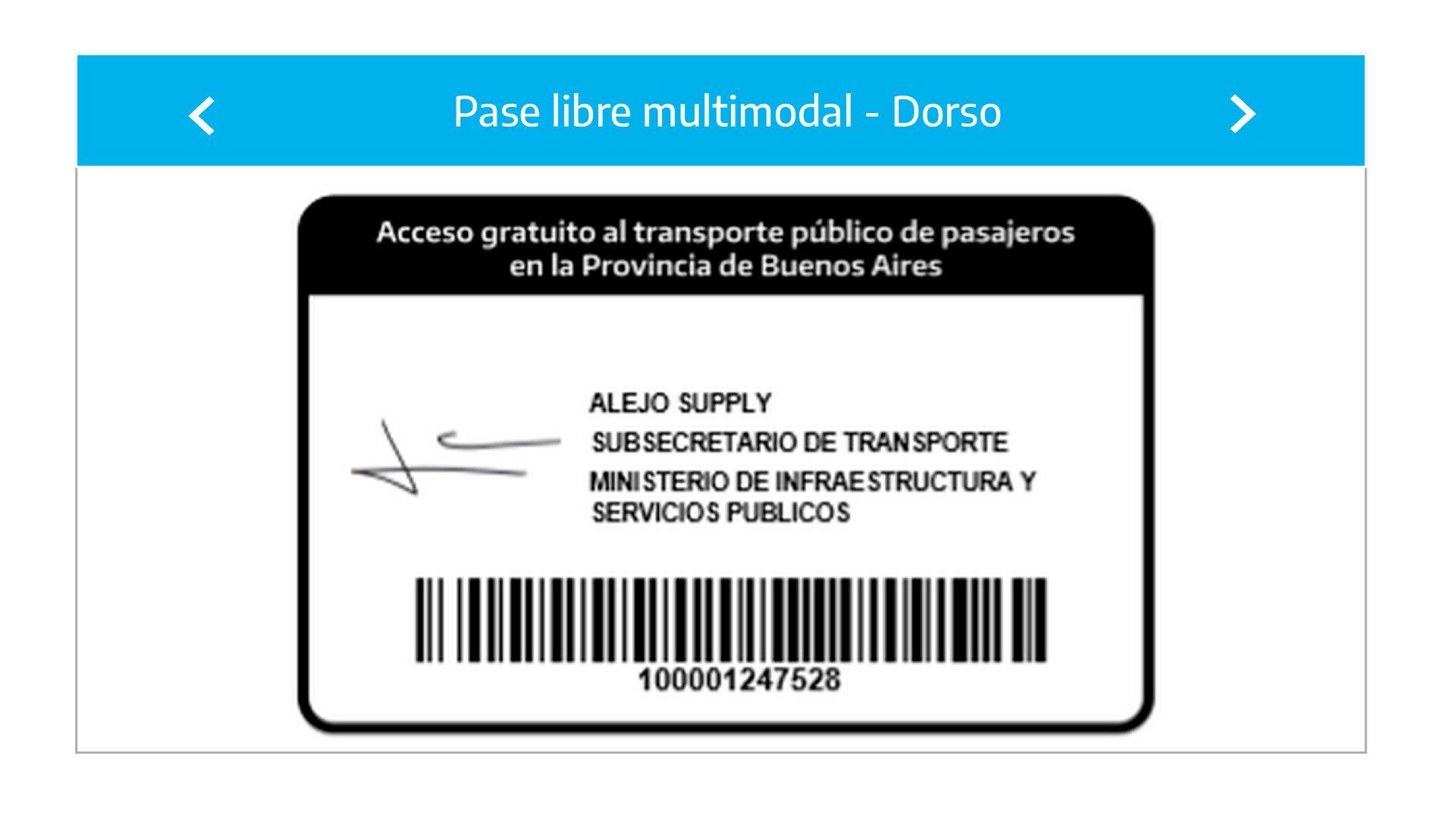 credencial digital pase libre PBA