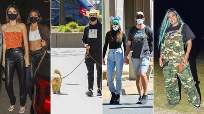 El divertido viaje de Shailene Woodley y Aaron Rodgers a Disney, el paseo de Hugh Jackman con sus mascotas en Nueva York: celebrities en un click