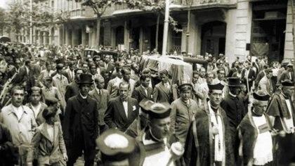 La ciudad de Barcelona quedó conmovida al enterarse de su suicidio