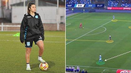 Racing lanzó un curso de videoanálisis para sus futbolistas a partir de la consulta de la jugadora Eugenia Nardone (Paola Lara - Prensa Racing)