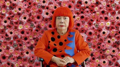 """La artista japonesa Yayoi Kusama, presentará la muestra (también postergada) """"Cosmic Nature""""  (Foto: Telam)"""