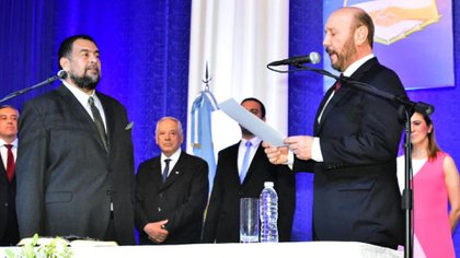 Jorge González y Gildo Insfrán (Twitter)