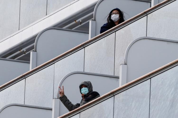 Pasajeros abordo del crucero. REUTERS/Kim Kyung-Hoon