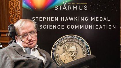 Hawking durante el quinto festival de Starmus, en Noruega (STARMUS)