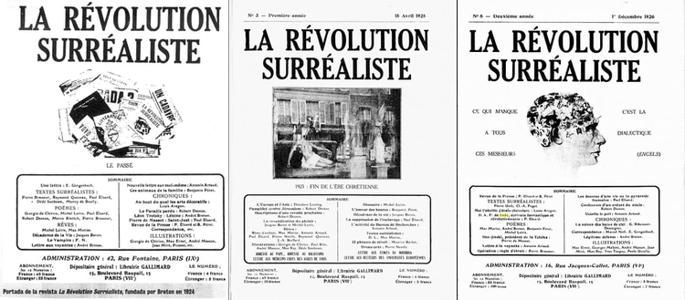 """Algunos números de """"La Revolución Surrealista"""""""