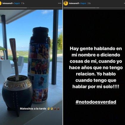 Las stories de Luis Suárez (@luissuarez9)