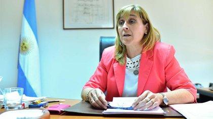 La jueza federal de Caleta Olivia, Marta Yañez (Télam)