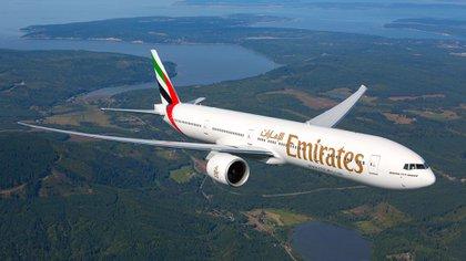 Un vuelo de Fly Emirates Airbus A380