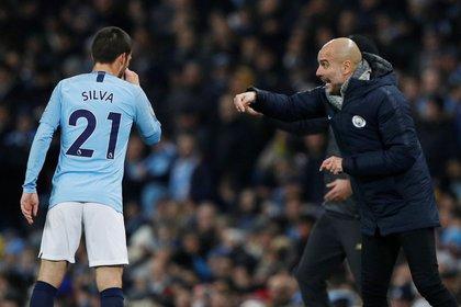 Guardiola se deshizo en elogios hacia David Silva