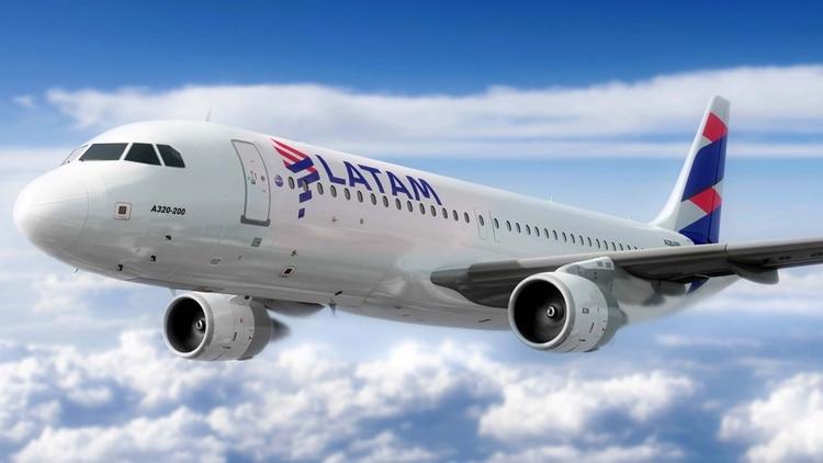 Uno de los aviones de Latam