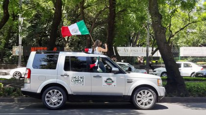 Tercera caravana de protestas contra AMLO en la Ciudad de México (Foto: Infobae)