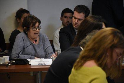Los diputados de Cambiemos Ocaña y López se quedaron hasta el final de la extensa reunión