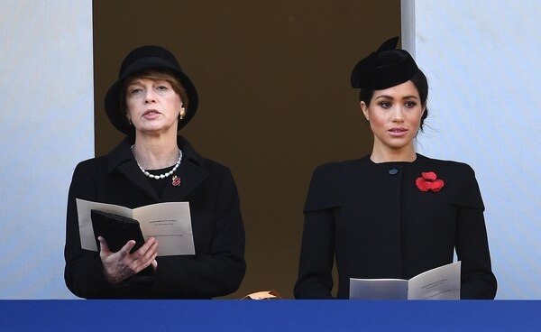 Meghan Markle junto a Elke Budenbender, esposa del presidente de Alemania (EFE)