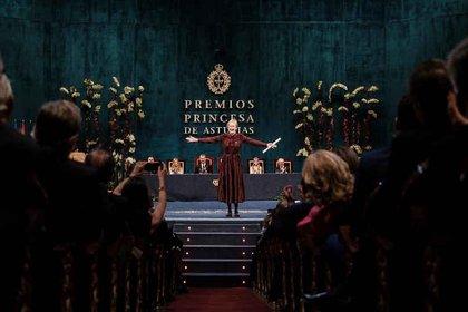 Siri Hustvedt recibió el premio Príncipe de Asturias en 2019