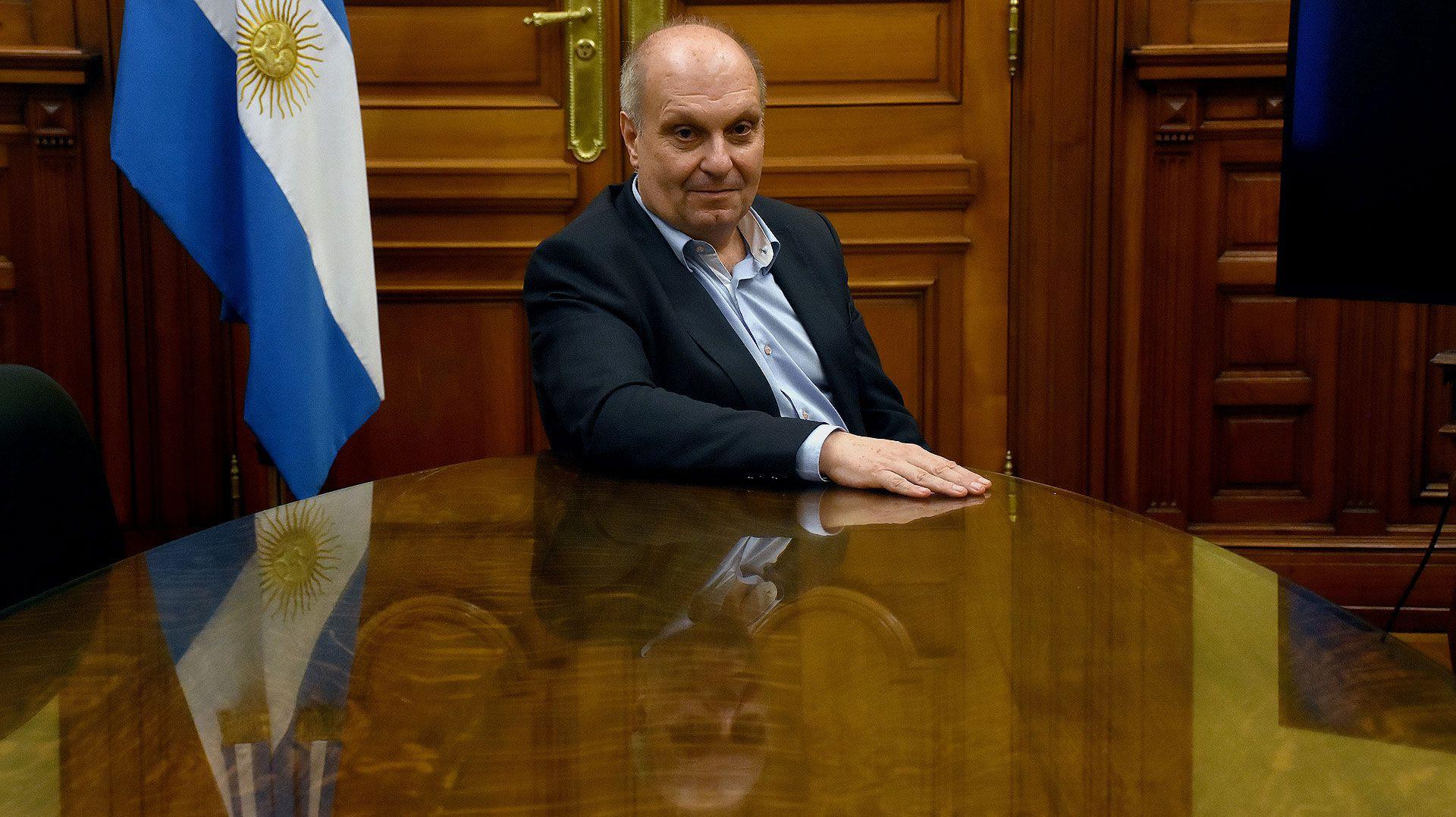 Hernán Lombardi en lo que era su despacho en el CCK (Nicolás Stulberg)