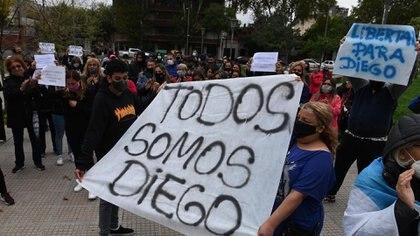 """""""Todos somos Diego"""" fue el lema principal de la marcha"""