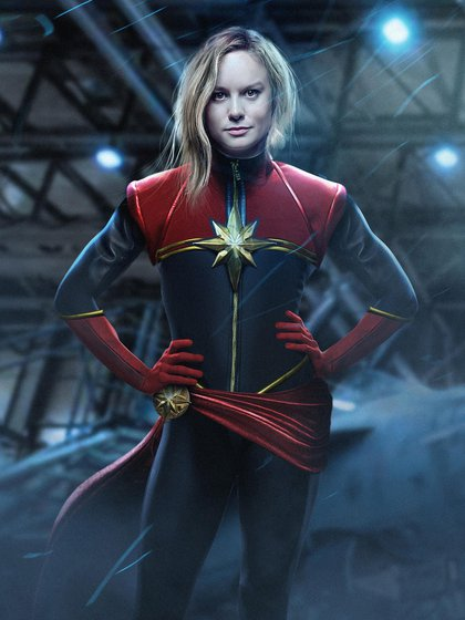 Brie Larson como Captain Marvel, la primer mujer en tener su película propia en Marvel/Disney