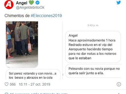 El mensaje que publicó Ángel de Brito (Foto: Twitter)
