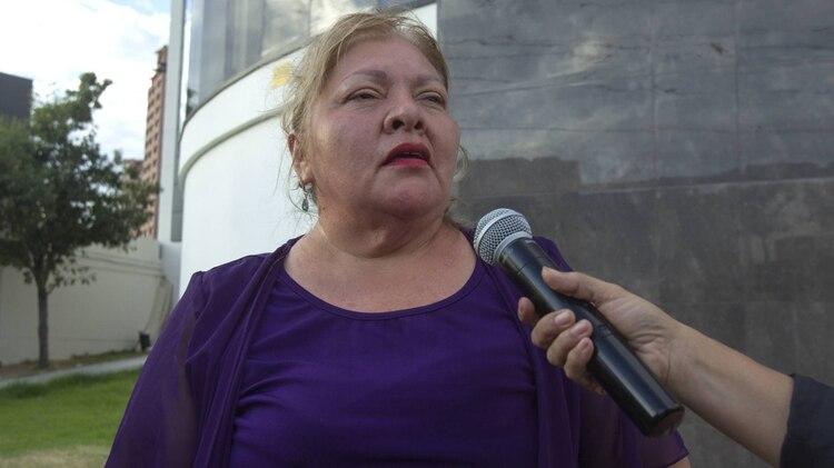 La viuda de Celso Piña se mostraba serena en medio del dolor (Foto: Cuartoscuro)