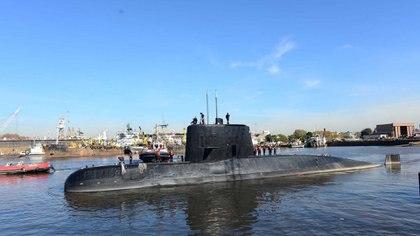 El submarino ARA San Juan perdió contacto el miércoles por la mañana (Reuters)
