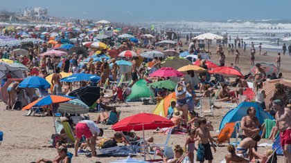 Playa de Pinamar. (Diego Medina)