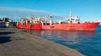 El momento de la colisión entre los barcos pesqueros