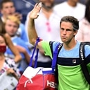Diego Schwartzman of Argentina leaves the court after the Men's Singles Quarter-finals match against Rafael Nadal of Spain at the 2019 US Open at the USTA Billie Jean King National Tennis Center in New York on September 4, 2019. (Photo by Johannes EISELE / AFP)