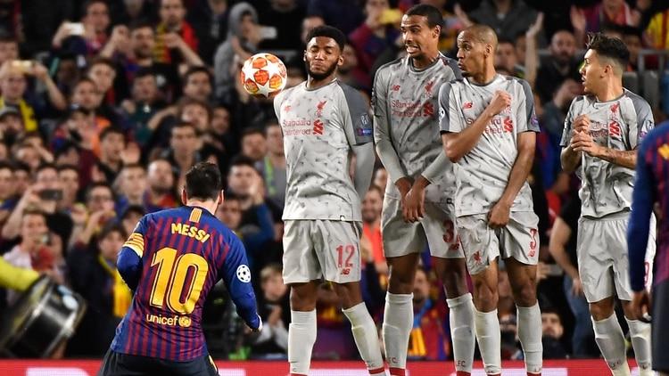 El gol de tiro libre ante el Liverpool, el mejor de la temporada ( JOSE JORDAN / AFP)