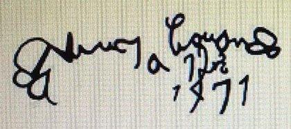 Firma de joven de Leonardo da Vinci