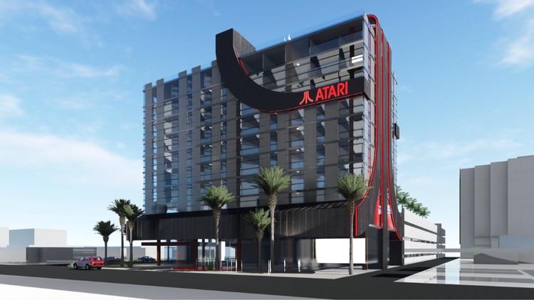 Los edificios de los hoteles se identificarán por las luces rojas que forman la inicial de Atari.