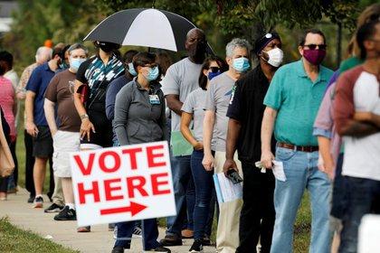 Carolina del Norte habilitó el voto anticipado.    REUTERS/Jonathan Drake/File Photo/File Photo