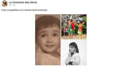 El collage de La Chilindrina (Foto: Facebook)