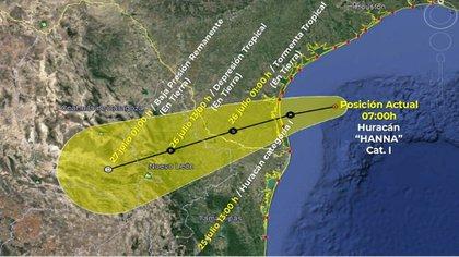 El huracán se ubica en el Golfo de México y provocará trombas al noreste del país. (Foto: @conagua_clima)