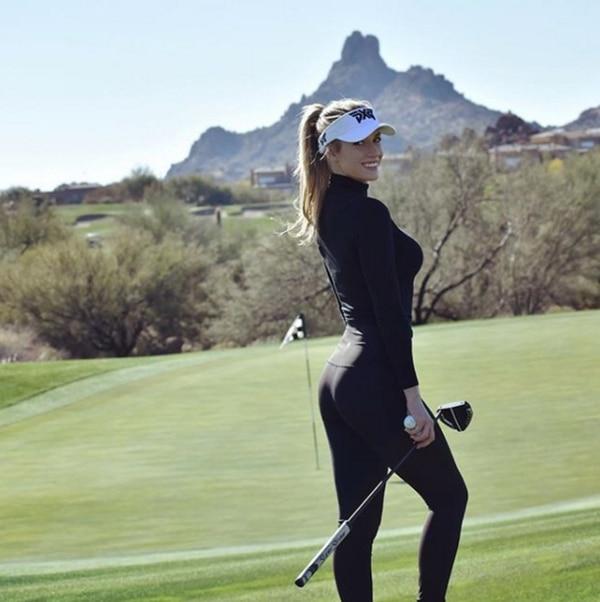 Paige Spiranac será la encargada de anunciar a los jugadores durante el Omega Dubai Desert Classic (Instagram)