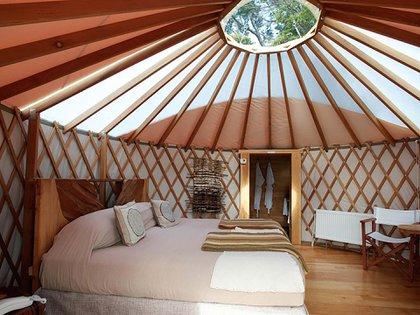 Además de aislamiento e intimidad, ofrecen poder hacer actividades de aventura (Glamping Patagonia Camp)