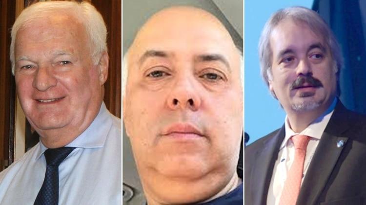 Nelson Periotti, Sandro Fergola y Germán Nivello, tres de los cuatro detenidos