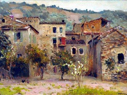 """""""Cerca de Bordighera en el norte de Italia"""" (1890, Galería Estatal Tretyakov)"""