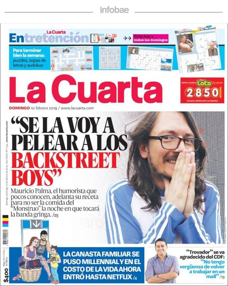 La Cuarta, Chile, Lunes 11 de febrero de 2019 - Infobae