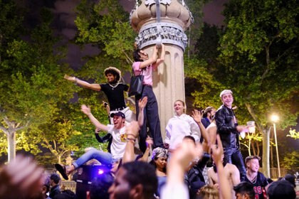 La fiesta en Barcelona (REUTERS/Nacho Doce)