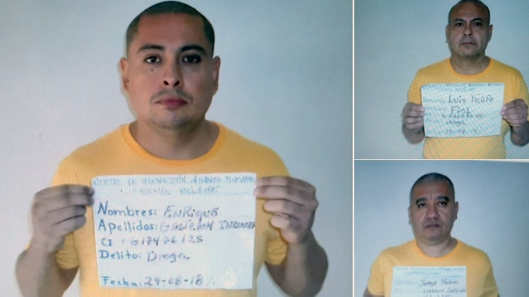 Los tres narcos mexicanos fugados de La Planta(Foto: Twitter)