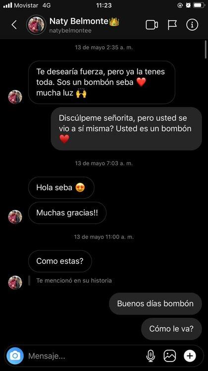 El origen de todo: la primera conversación entre Natalia y Sebastián